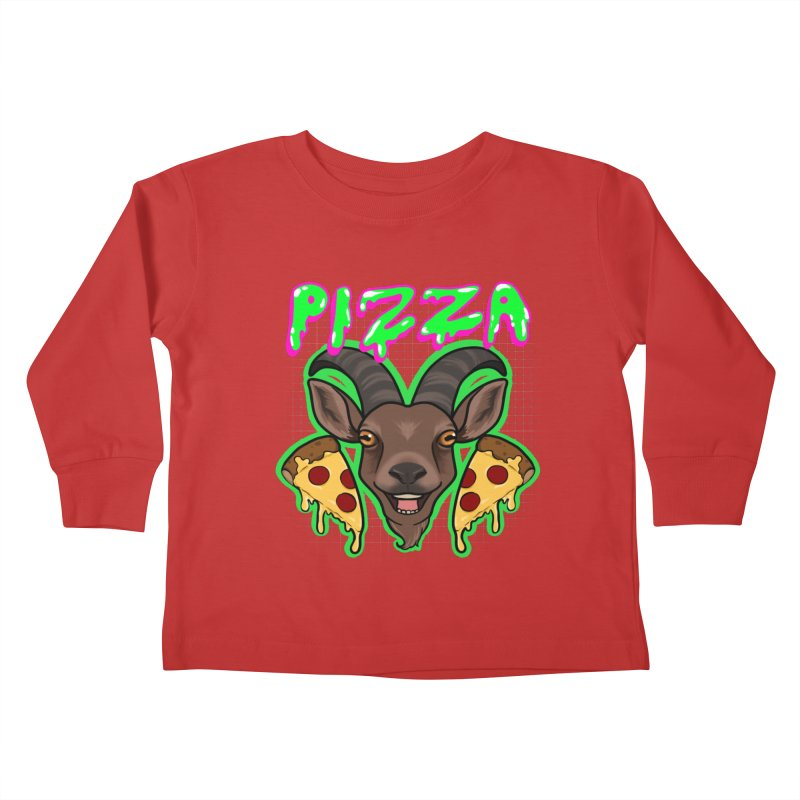 Pizza goat Kids Toddler Longsleeve T-Shirt by AnimeGravy