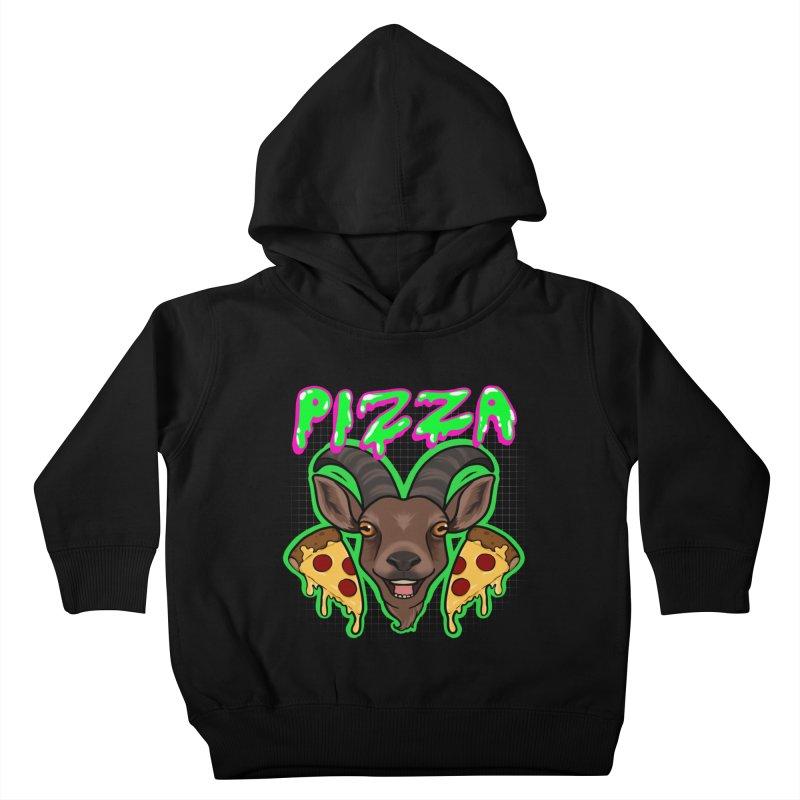 Pizza goat Kids Toddler Pullover Hoody by Animegravy's Artist Shop
