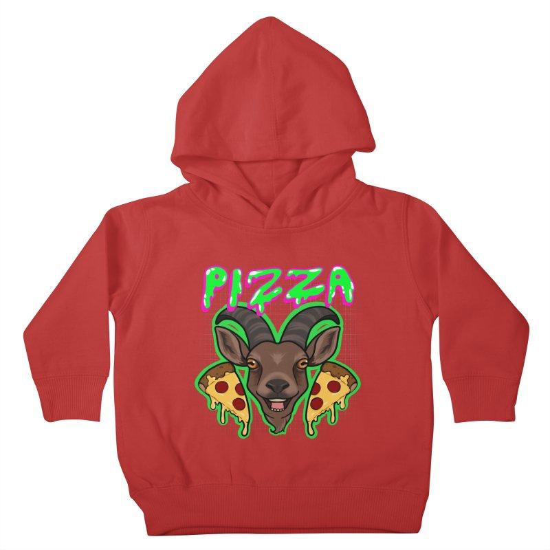 Pizza goat Kids Toddler Pullover Hoody by AnimeGravy