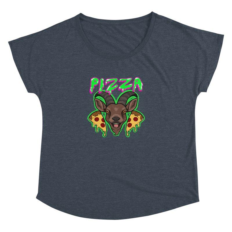 Pizza goat Women's Dolman Scoop Neck by AnimeGravy
