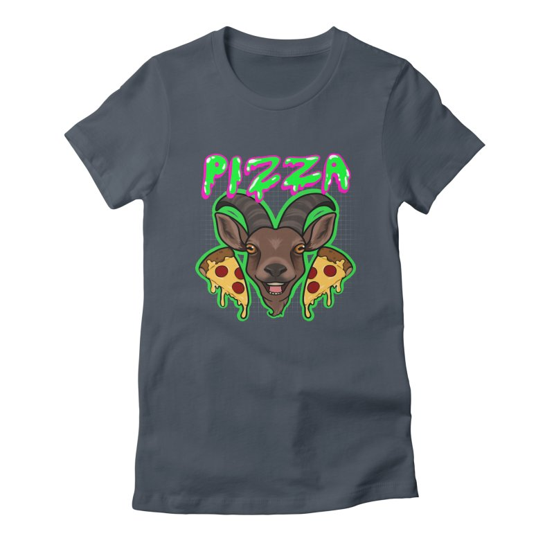 Pizza goat Women's T-Shirt by AnimeGravy