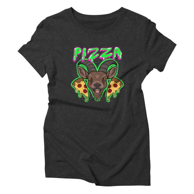 Pizza goat Women's Triblend T-Shirt by AnimeGravy