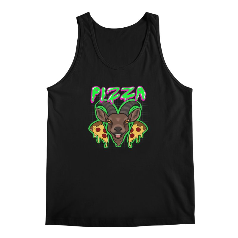 Pizza goat Men's Regular Tank by Animegravy's Artist Shop