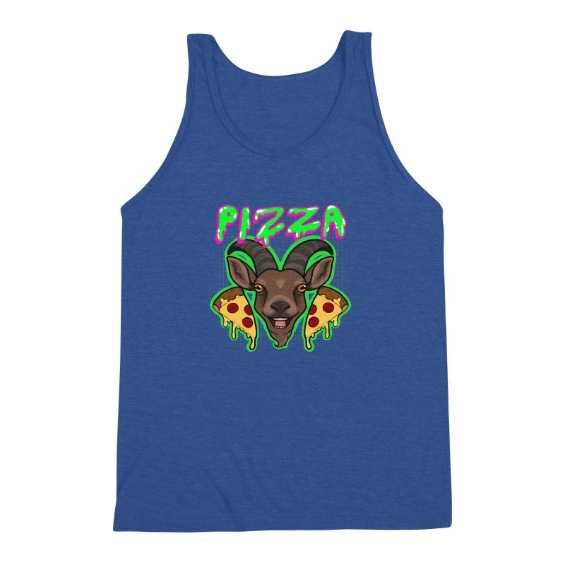 Pizza goat Men's Triblend Tank by Animegravy's Artist Shop