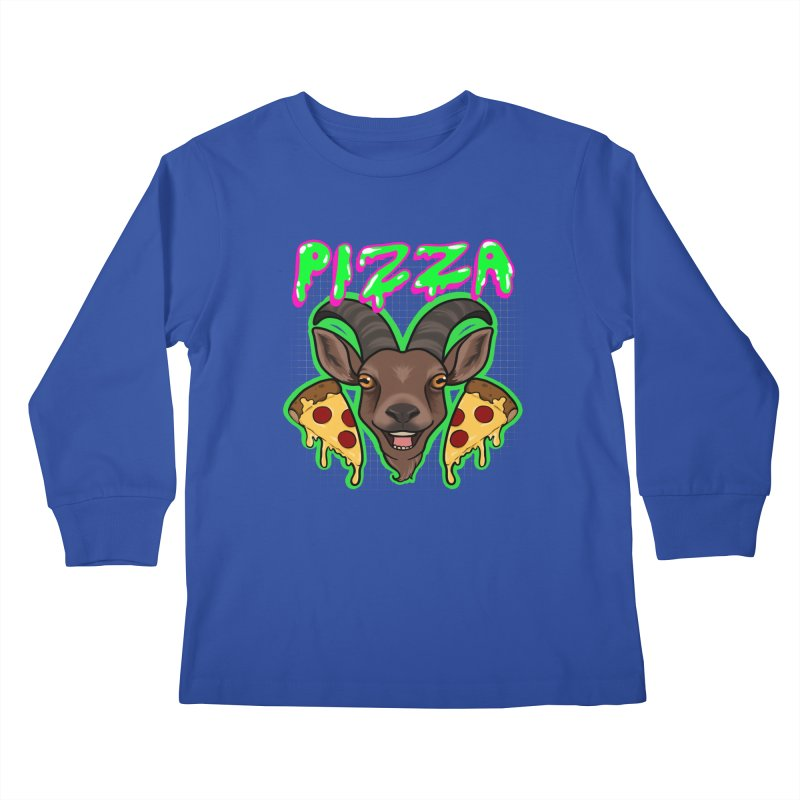 Pizza goat Kids Longsleeve T-Shirt by AnimeGravy