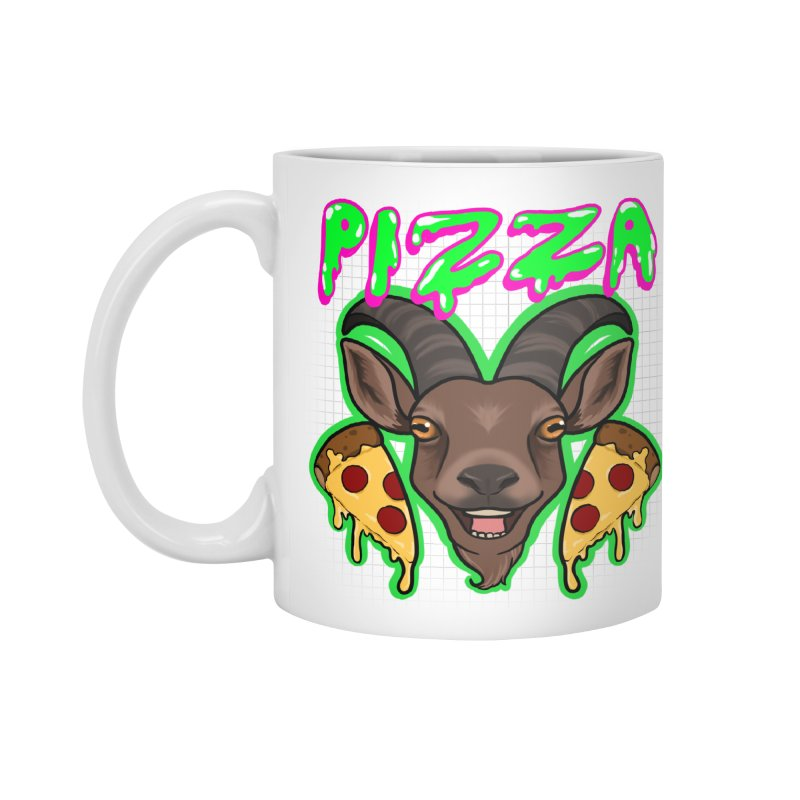Pizza goat Accessories Standard Mug by AnimeGravy