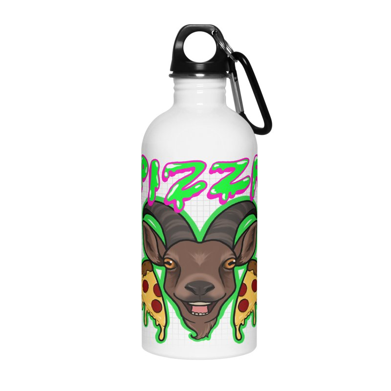 Pizza goat Accessories Water Bottle by Animegravy's Artist Shop