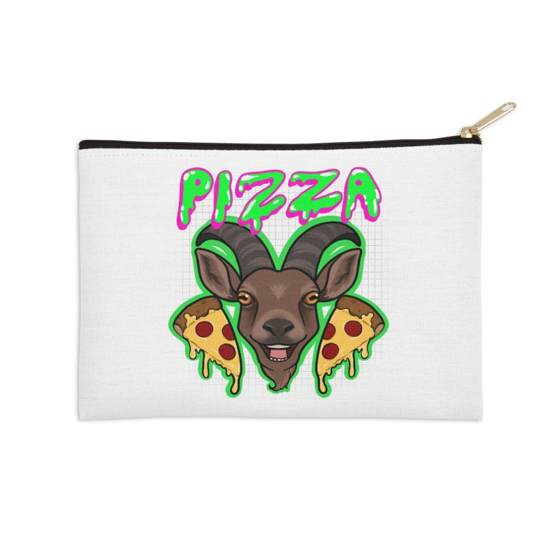 Pizza goat Accessories Zip Pouch by AnimeGravy