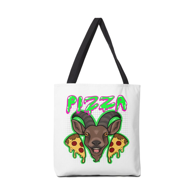 Pizza goat Accessories Bag by Animegravy's Artist Shop