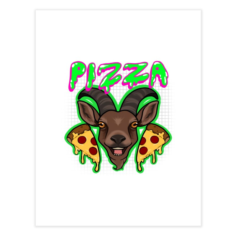 Pizza goat Home Fine Art Print by AnimeGravy