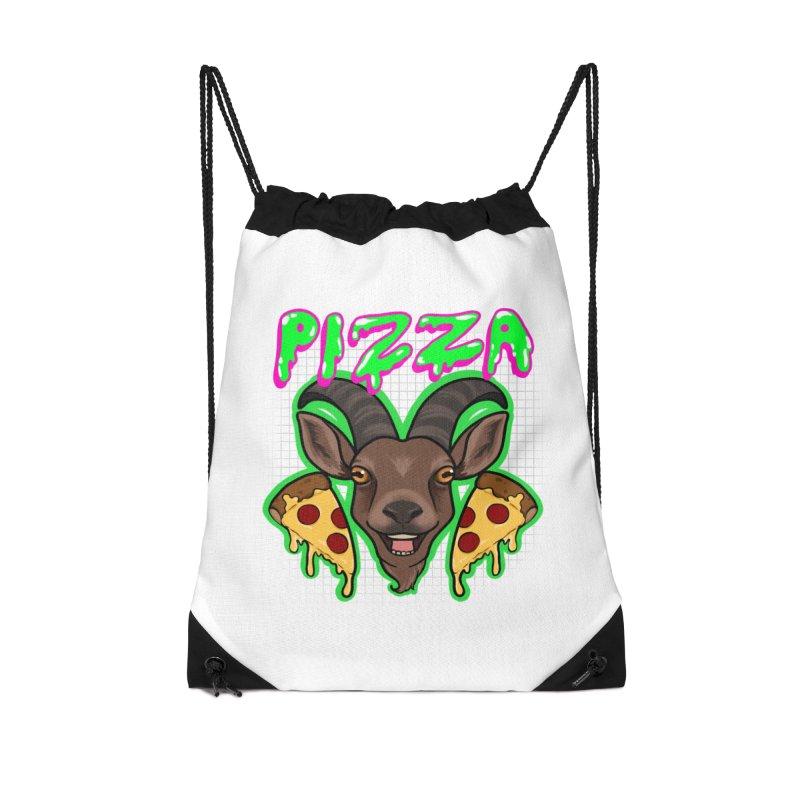 Pizza goat Accessories Drawstring Bag Bag by AnimeGravy