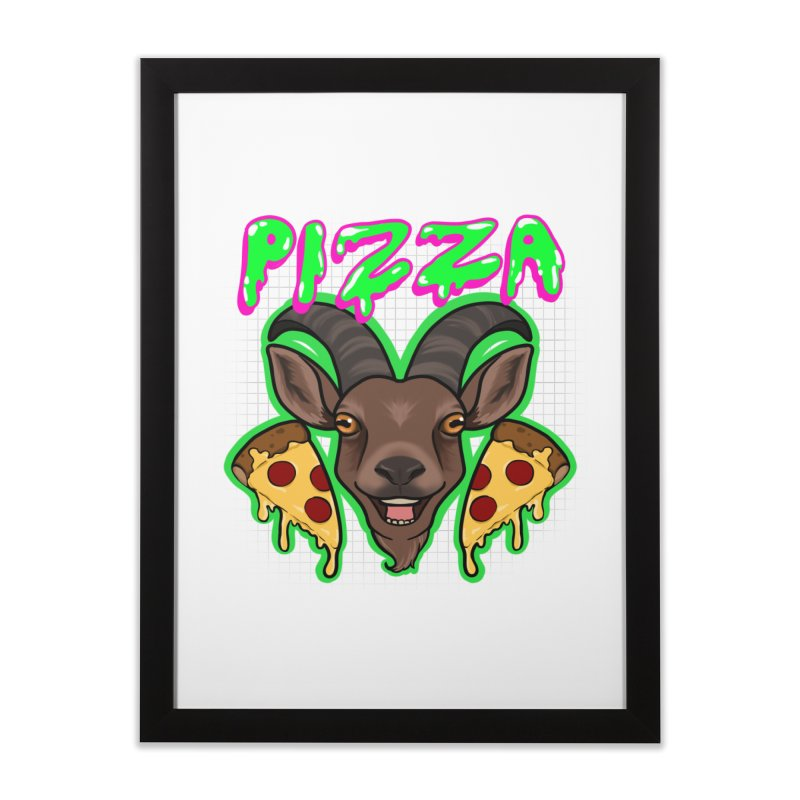 Pizza goat Home Framed Fine Art Print by AnimeGravy