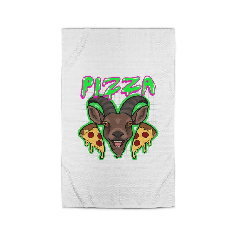 Pizza goat Home Rug by Animegravy's Artist Shop