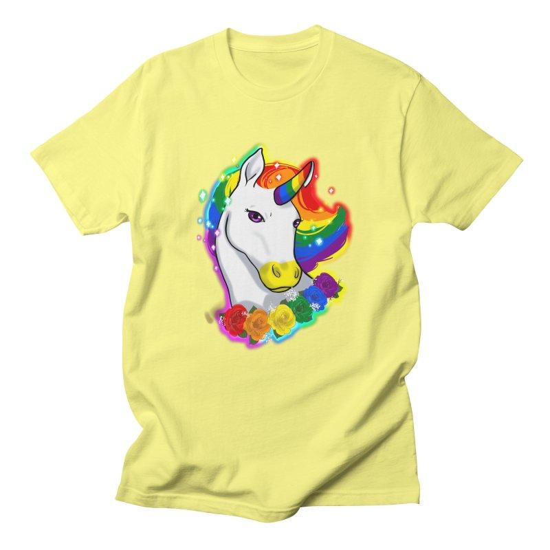 Rainbow gay pride unicorn Women's Regular Unisex T-Shirt by AnimeGravy