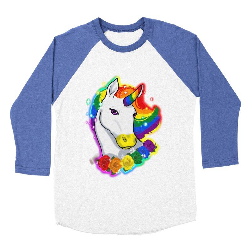 Rainbow gay pride unicorn Men's Baseball Triblend Longsleeve T-Shirt by AnimeGravy