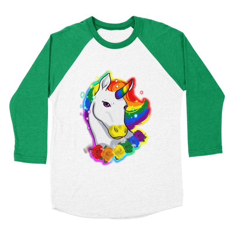Rainbow gay pride unicorn Men's Baseball Triblend Longsleeve T-Shirt by AnimeGravy
