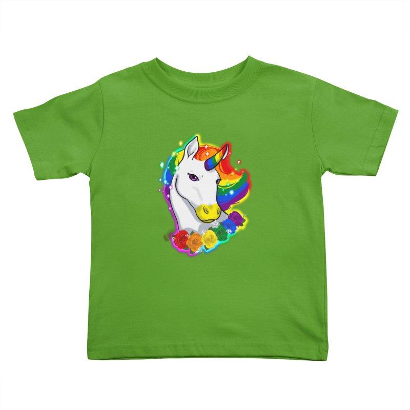 Rainbow gay pride unicorn Kids Toddler T-Shirt by AnimeGravy