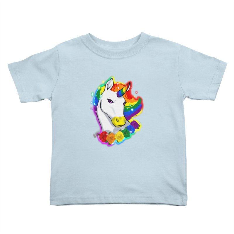 Rainbow gay pride unicorn Kids Toddler T-Shirt by Animegravy's Artist Shop