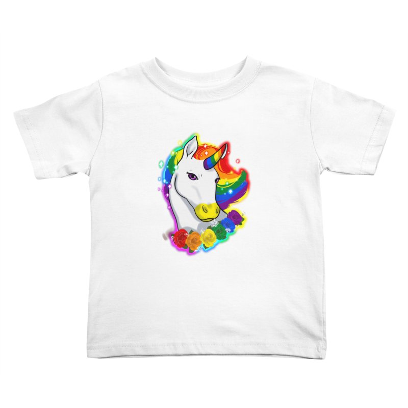 Rainbow gay pride unicorn Kids Toddler T-Shirt by AnimeGravy