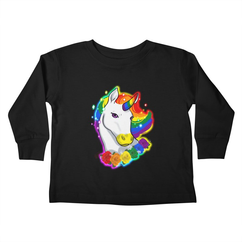 Rainbow gay pride unicorn Kids Toddler Longsleeve T-Shirt by AnimeGravy