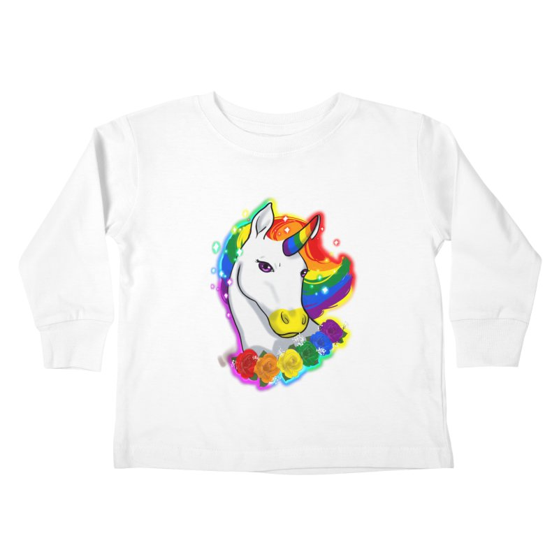 Rainbow gay pride unicorn Kids Toddler Longsleeve T-Shirt by AnimeGravy