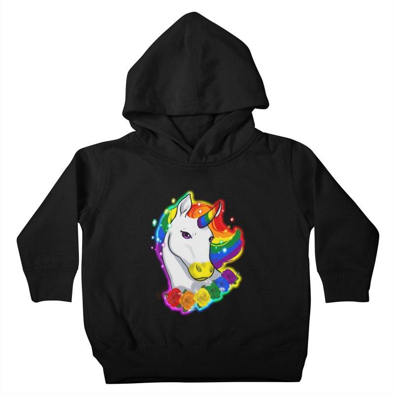 Rainbow gay pride unicorn Kids Toddler Pullover Hoody by Animegravy's Artist Shop