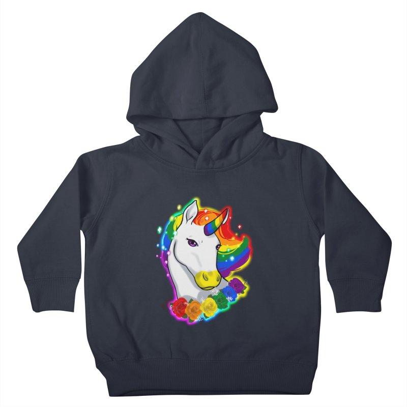 Rainbow gay pride unicorn Kids Toddler Pullover Hoody by AnimeGravy
