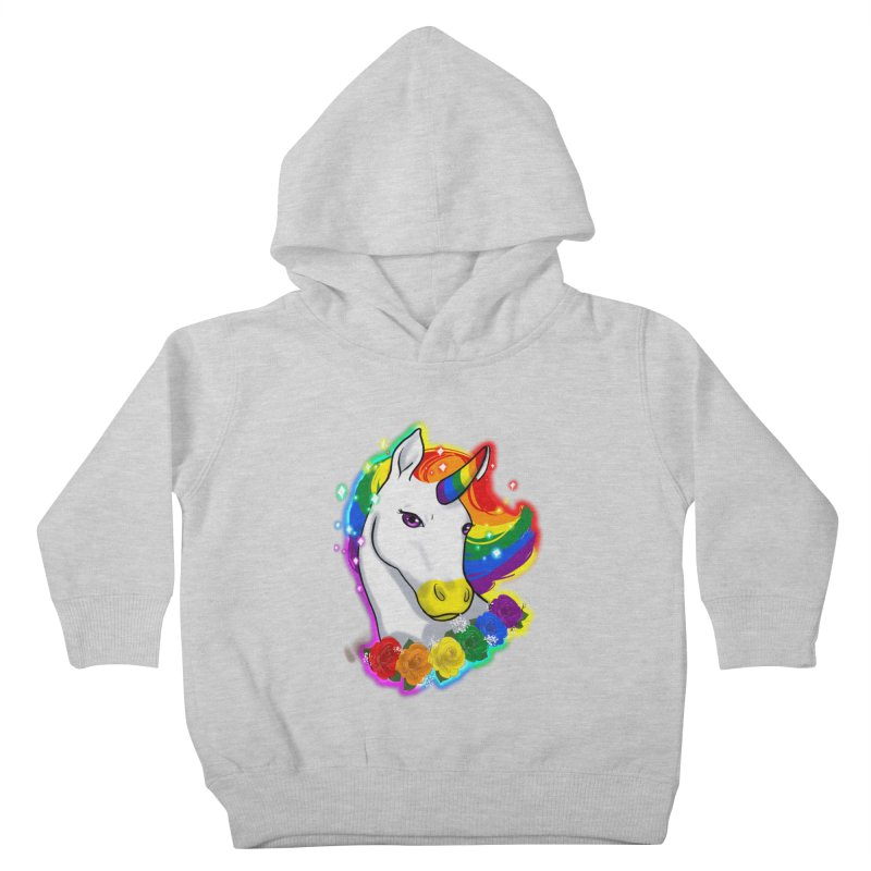 Rainbow gay pride unicorn Kids Toddler Pullover Hoody by Animegravy's Artist Shop