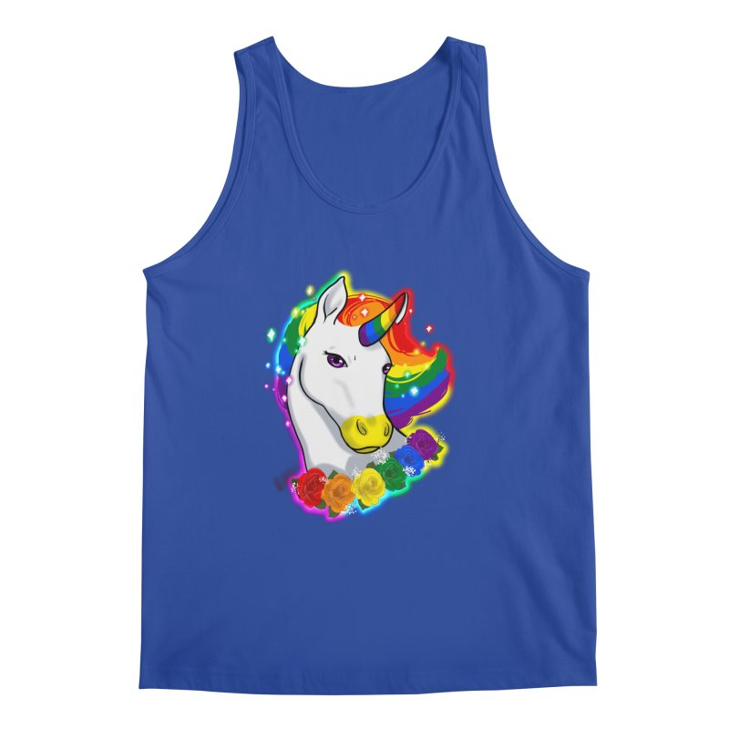 Rainbow gay pride unicorn Men's Regular Tank by AnimeGravy