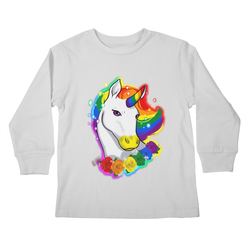 Rainbow gay pride unicorn Kids Longsleeve T-Shirt by Animegravy's Artist Shop