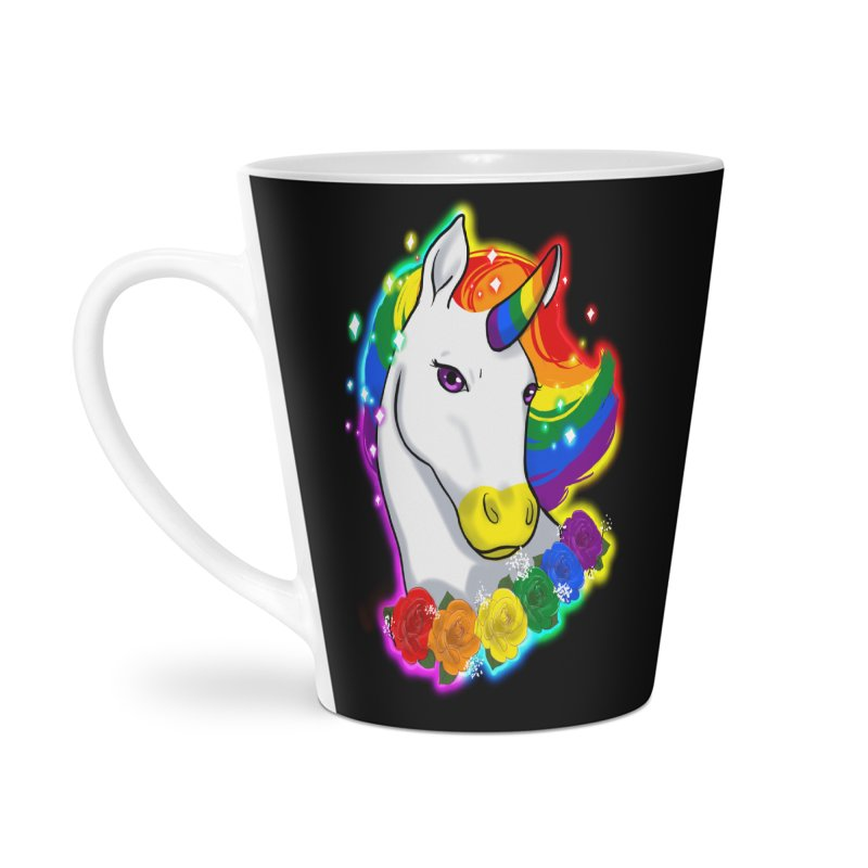 Rainbow gay pride unicorn Accessories Latte Mug by AnimeGravy