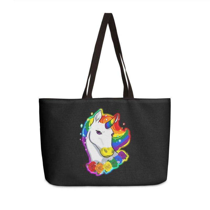 Rainbow gay pride unicorn Accessories Weekender Bag Bag by AnimeGravy