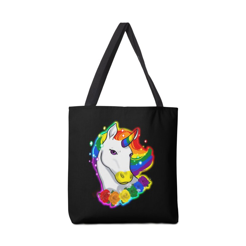 Rainbow gay pride unicorn Accessories Bag by Animegravy's Artist Shop