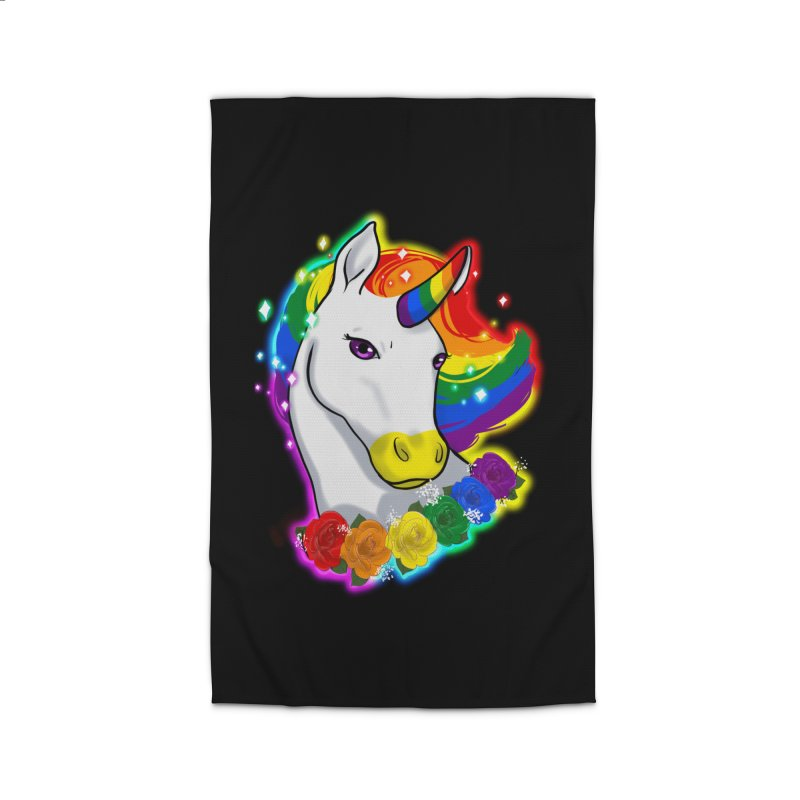 Rainbow gay pride unicorn Home Rug by AnimeGravy