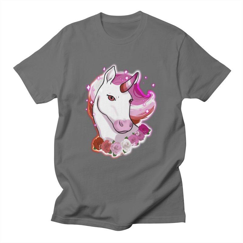 Lesbian pride unicorn Men's T-Shirt by AnimeGravy