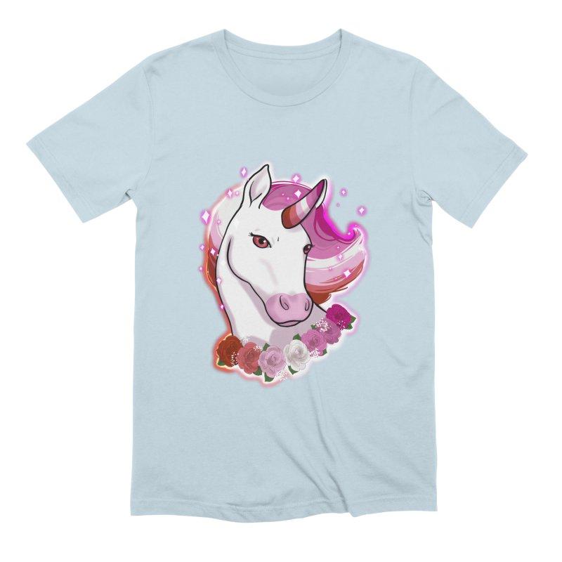 Lesbian pride unicorn Men's Extra Soft T-Shirt by Animegravy's Artist Shop