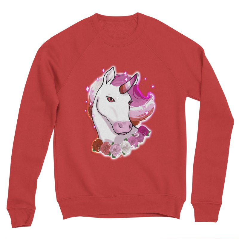 Lesbian pride unicorn Women's Sponge Fleece Sweatshirt by AnimeGravy