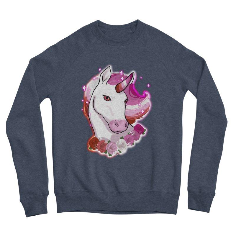 Lesbian pride unicorn Women's Sponge Fleece Sweatshirt by AnimeGravy