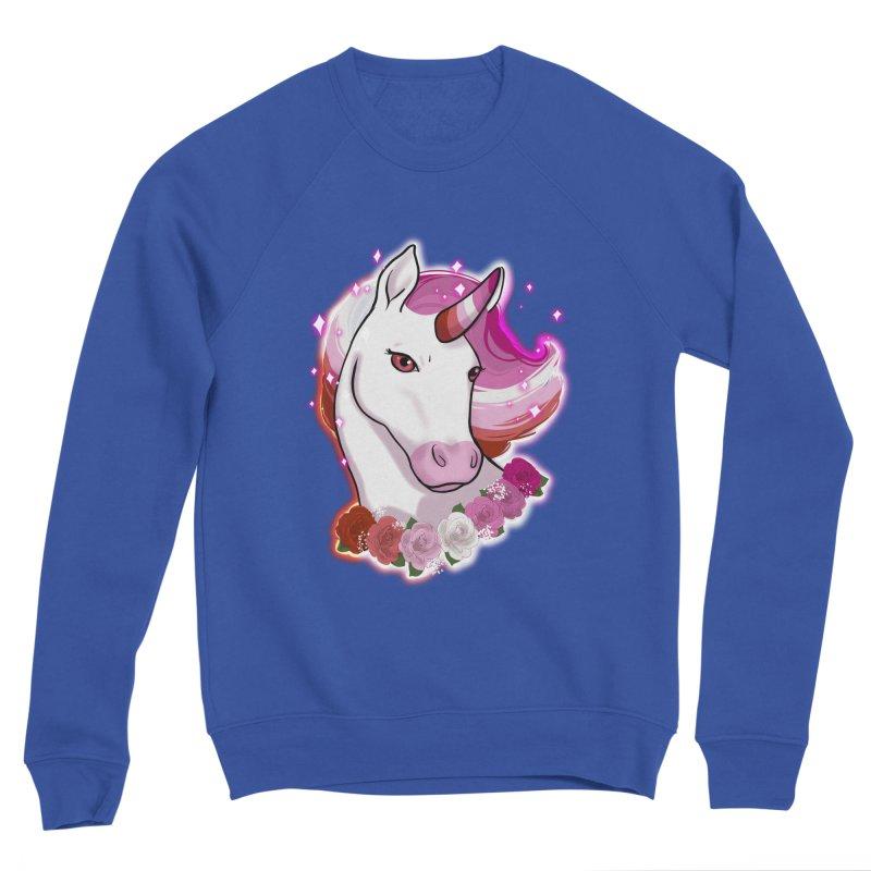 Lesbian pride unicorn Women's Sponge Fleece Sweatshirt by Animegravy's Artist Shop