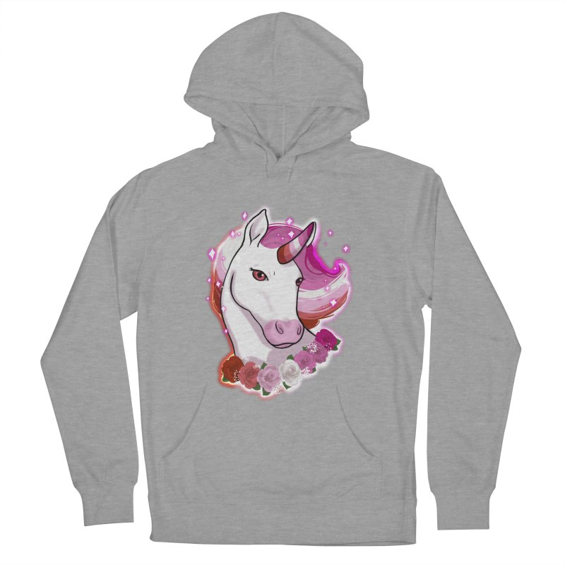 Lesbian pride unicorn Women's French Terry Pullover Hoody by AnimeGravy