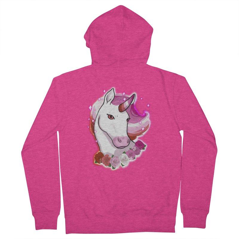 Lesbian pride unicorn Women's French Terry Zip-Up Hoody by AnimeGravy