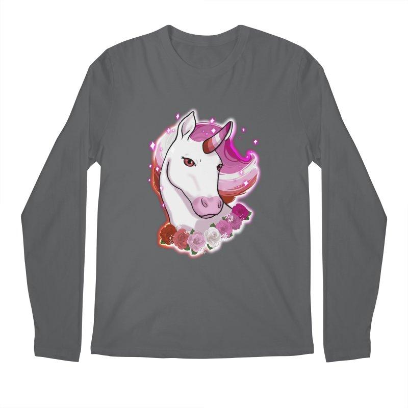 Lesbian pride unicorn Men's Regular Longsleeve T-Shirt by AnimeGravy