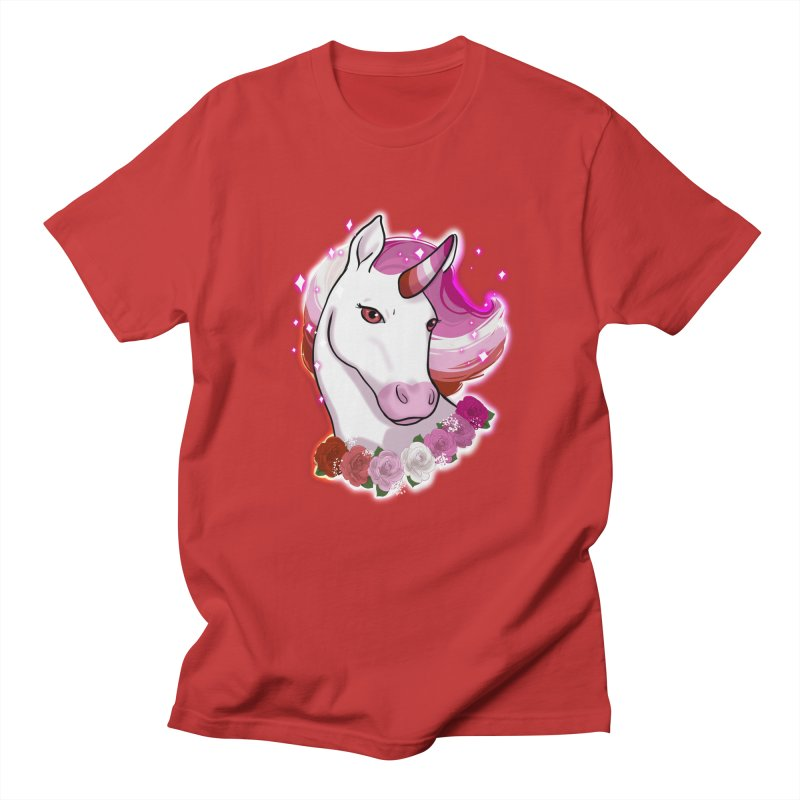 Lesbian pride unicorn Men's Regular T-Shirt by AnimeGravy