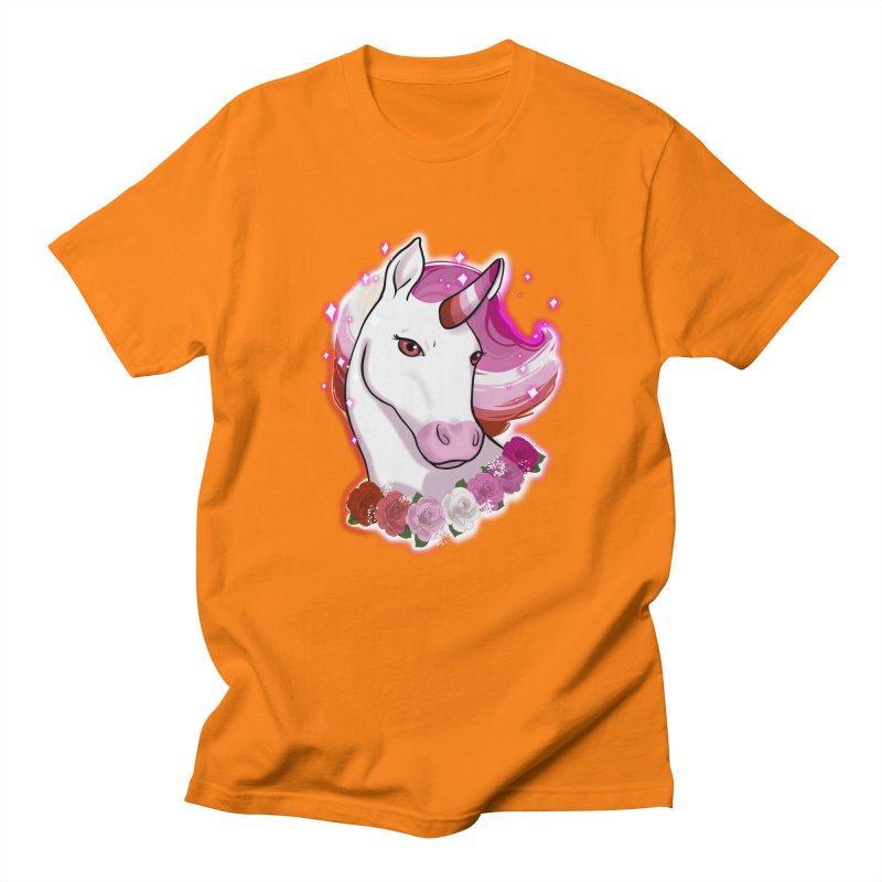 Lesbian pride unicorn Men's Regular T-Shirt by Animegravy's Artist Shop