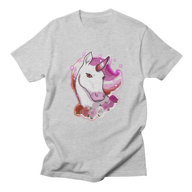 Lesbian pride unicorn Women's Regular Unisex T-Shirt by AnimeGravy