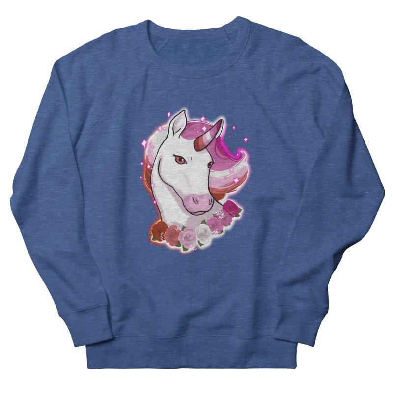 Lesbian pride unicorn Women's French Terry Sweatshirt by AnimeGravy