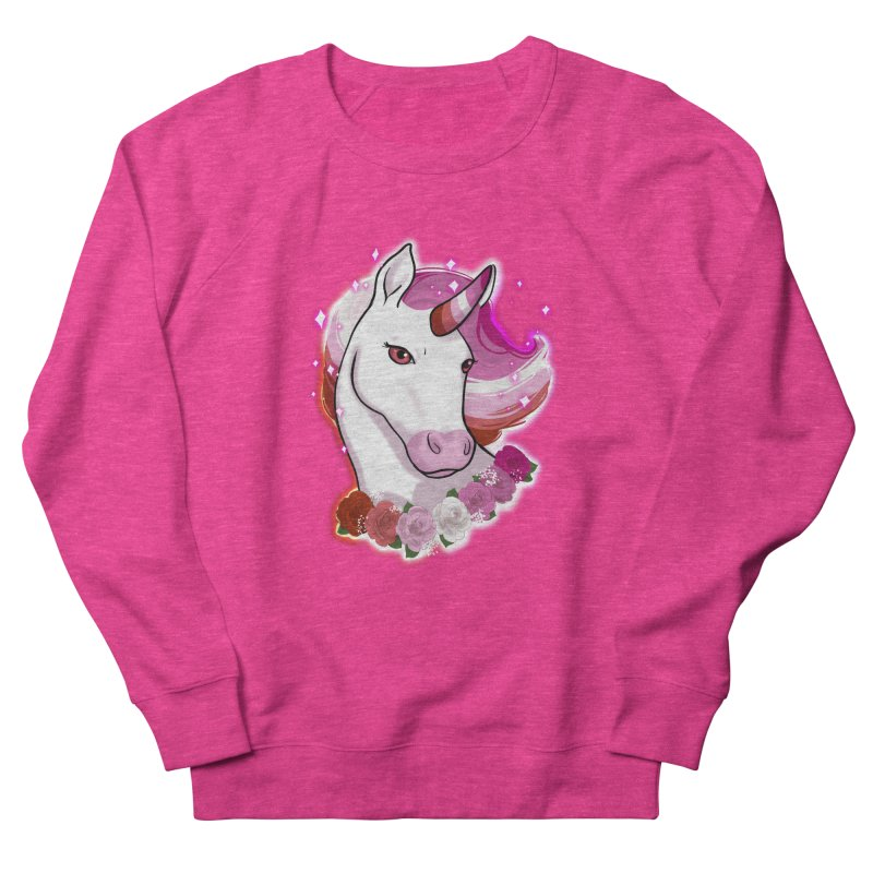 Lesbian pride unicorn Men's French Terry Sweatshirt by AnimeGravy