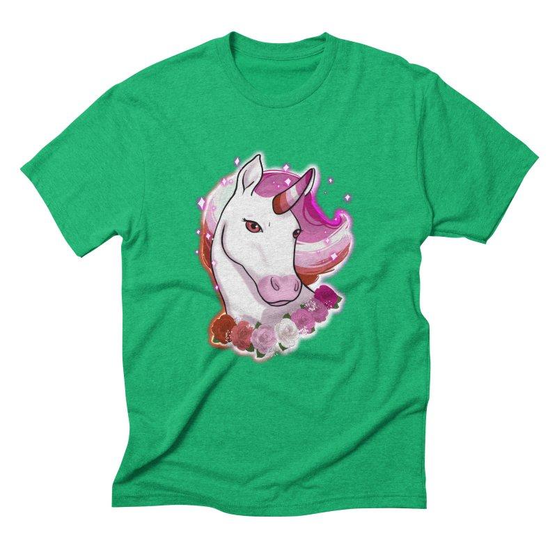Lesbian pride unicorn Men's Triblend T-Shirt by AnimeGravy