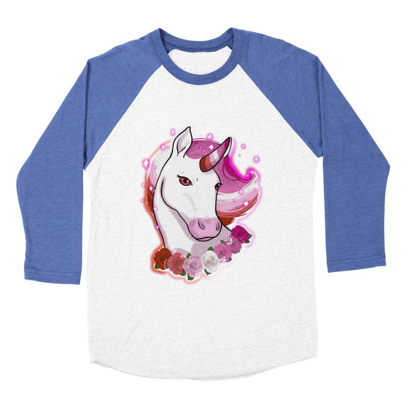 Lesbian pride unicorn Women's Baseball Triblend Longsleeve T-Shirt by AnimeGravy