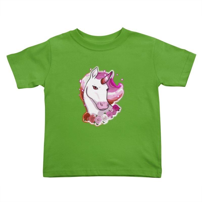 Lesbian pride unicorn Kids Toddler T-Shirt by AnimeGravy